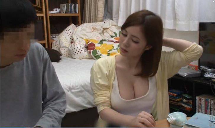 【家庭教師】「集中できんw」巨乳家庭教師お姉さんのおっぱいを揉みまくって中だしセックス!こんなデカパイ見せつけられて我慢できないよねw