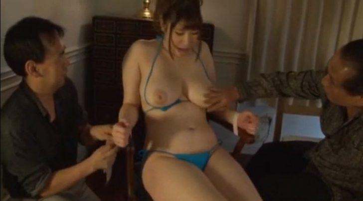 【七草ちとせ】落札されたJカップ巨乳お姉さんが身体を弄ばれる!おっぱい揉んだり吸ったり、セックスさせられまくり、完全な性奴隷となる!