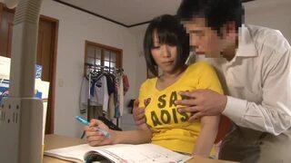 【家庭教師が巨乳受験生にした事の全記録 隠撮カメラFILE 前田優希】爆乳女子中学生が変態先生に背後からおっぱい揉みまくられるw
